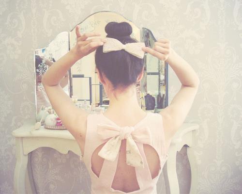 #bow back dress dresses cute pink fashion