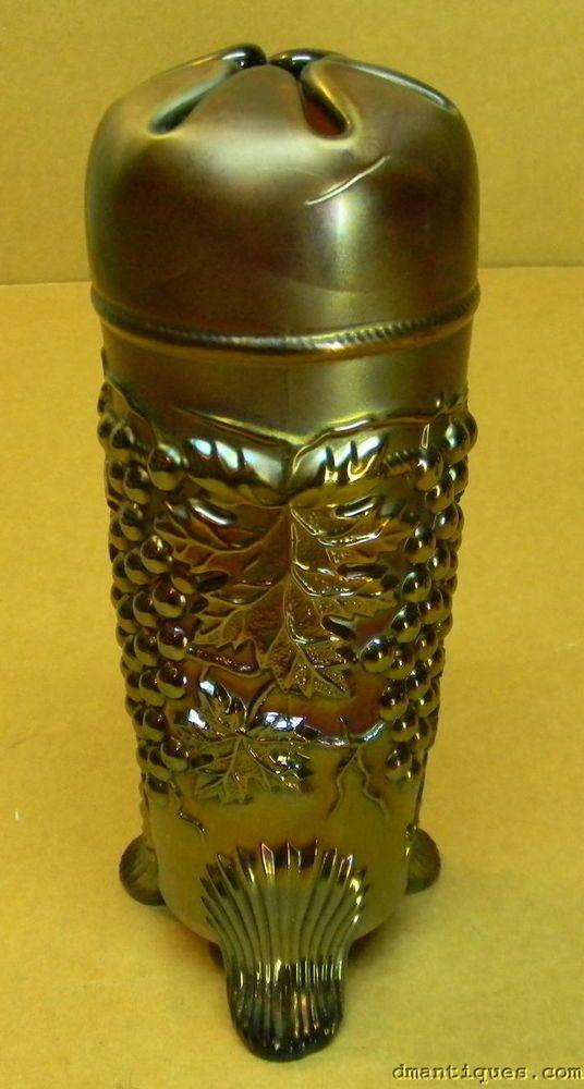 Details about Hatpin holder NORTHWOOD Antique Glass ...