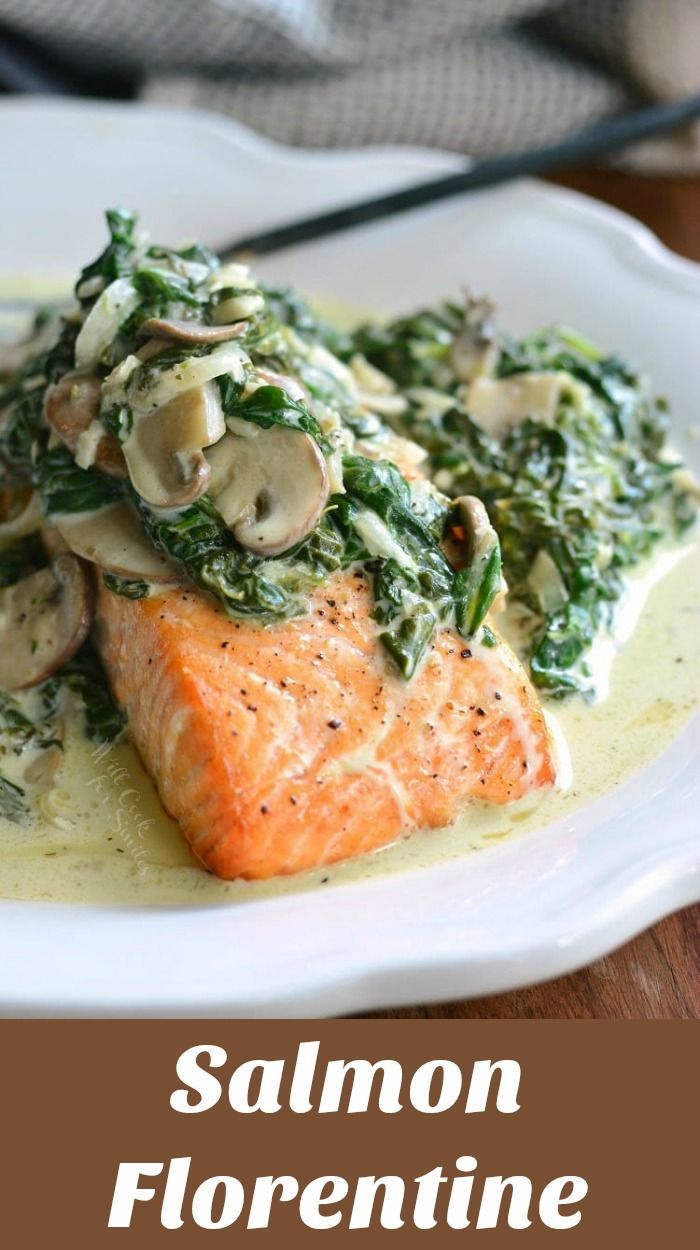 Salmon Florentine This Delicious Easy Dinner Is Made With Juicy Tender Baked Salmon And To Salmon Florentine Recipe Baked Salmon Recipes Easy Salmon Dinner