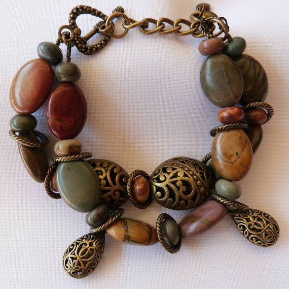 Check out this item in my Etsy shop https://www.etsy.com/au/listing/243071786/a-double-strand-bracelet-of-jasper-stone