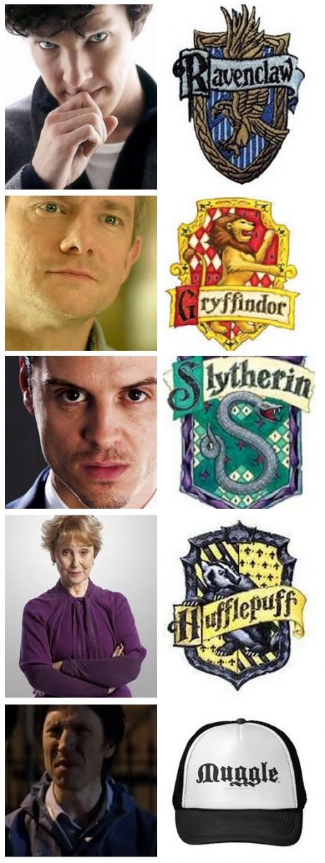 HAHAHA anderson. Though I think Molly and Lestrade both belong in Gryffindor in their own right, too.