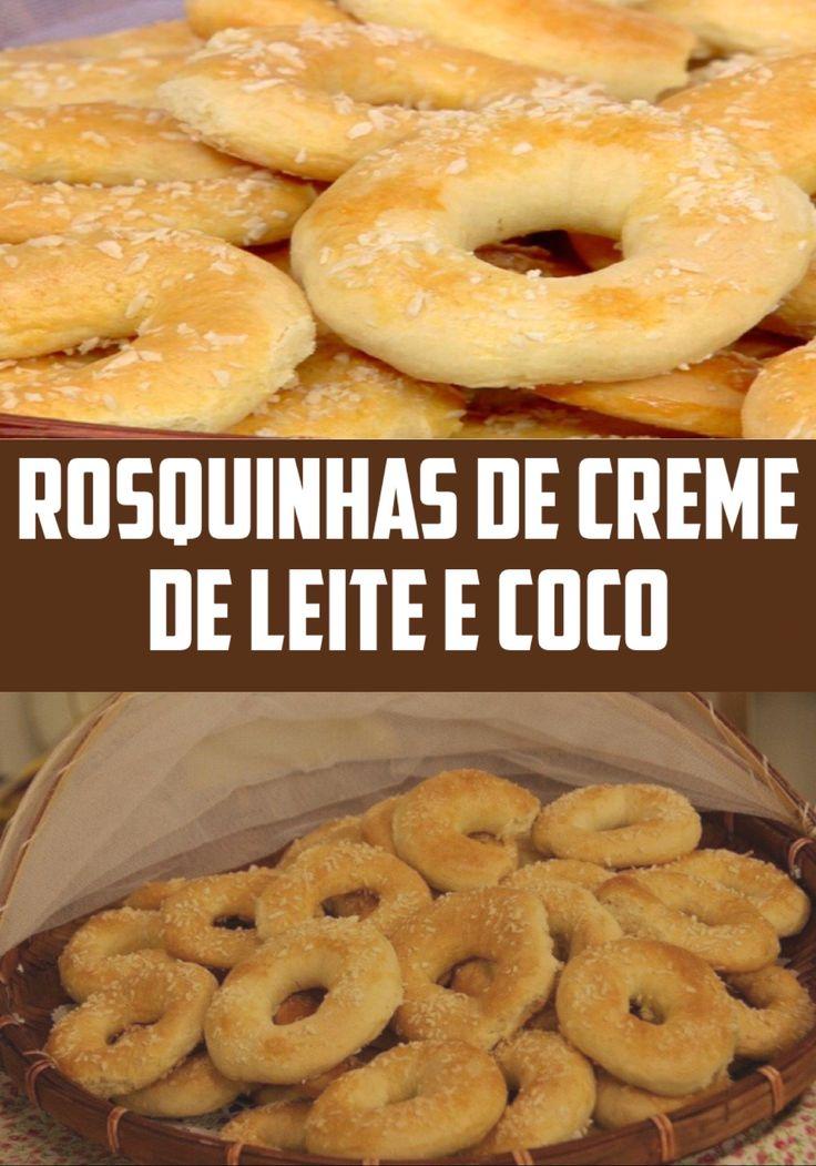 ROSQUINHAS DE CREME DE LEITE E COCO