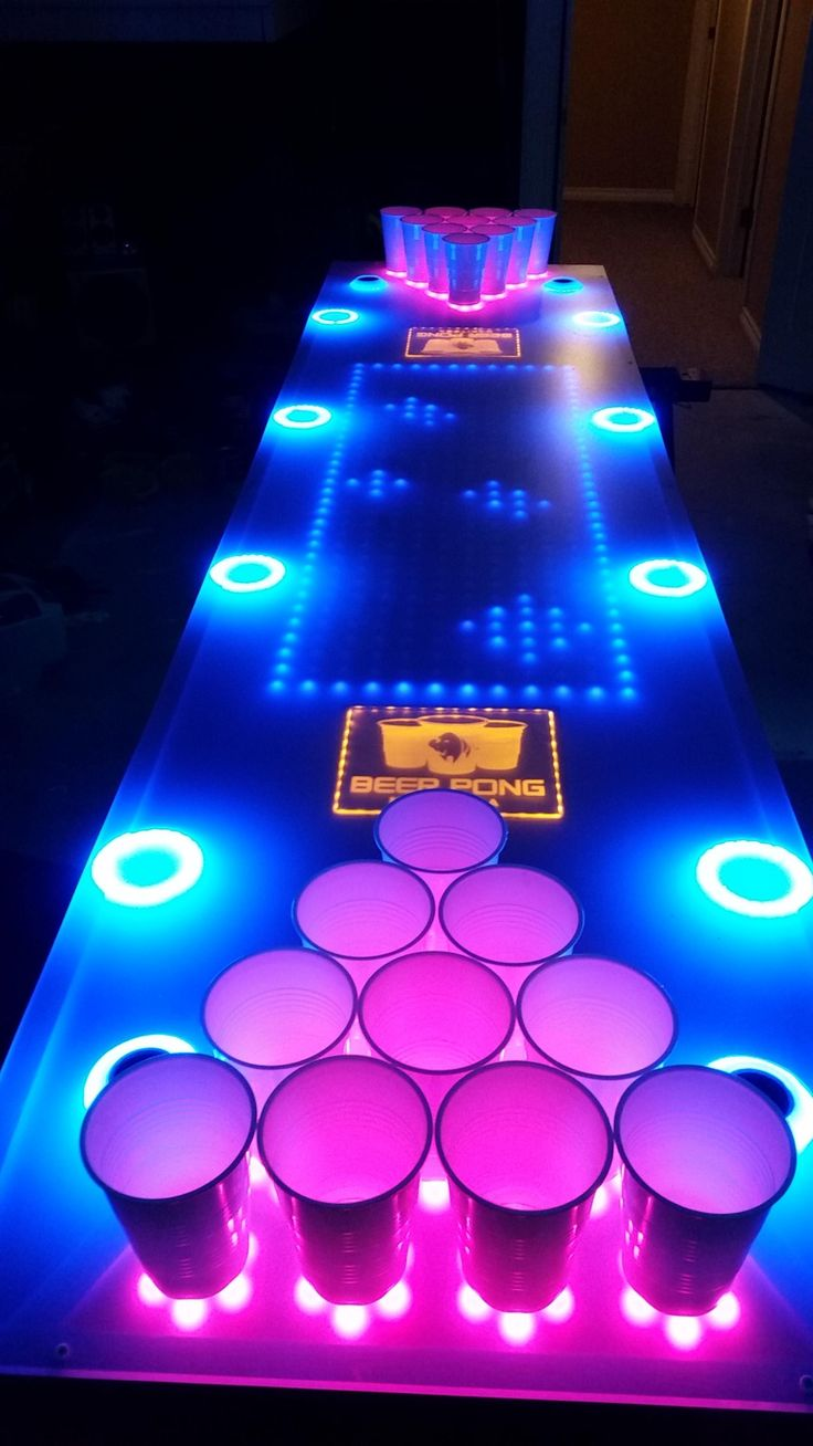 Interactive beer pong table! http://beerponglife.com/awesome-beer-pong-tables/
