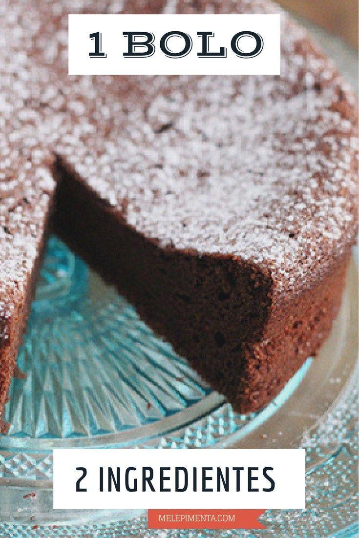Um bolo de chocolate com dois ingredientes