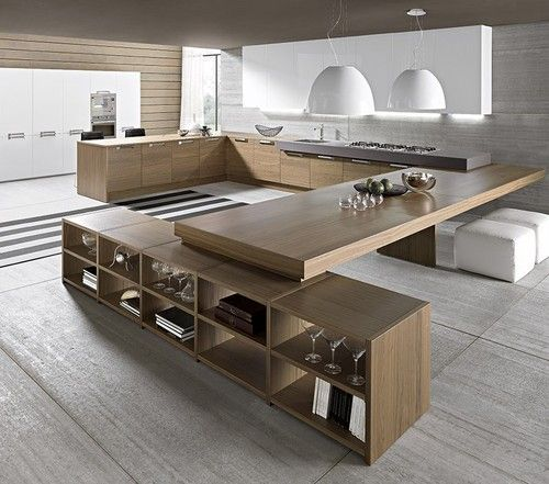 Love the drama of this kitchen but not sure how well it would function. Does it have enough storage, for example?