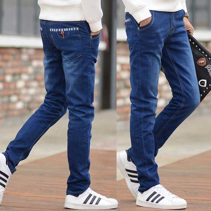 >> Click to Buy << Summer thin foot trousers Men Elastic Casual Straight Jeans Mid Cowboy Pants Skinny Blue Men Stretch Jeans Men Hot Size 27-36 #Affiliate