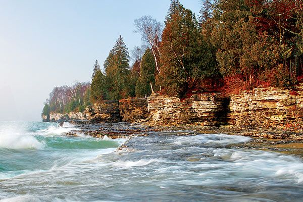 Door County, Wisconsin! Relatively close to Milwaukee. Entire county is set up around tourist trade, so be ready!