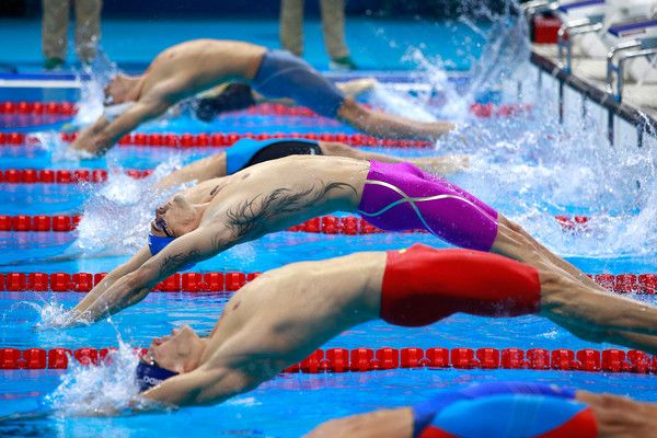 Camille Lacourt Photos Photos - Camille Lacourt of France competes in the Men's 100m Backstroke heat on Day 2 of the Rio 2016 Olympic Games at the Olympic Aquatics Stadium on August 7, 2016 in Rio de Janeiro, Brazil. - Swimming - Olympics: Day 2