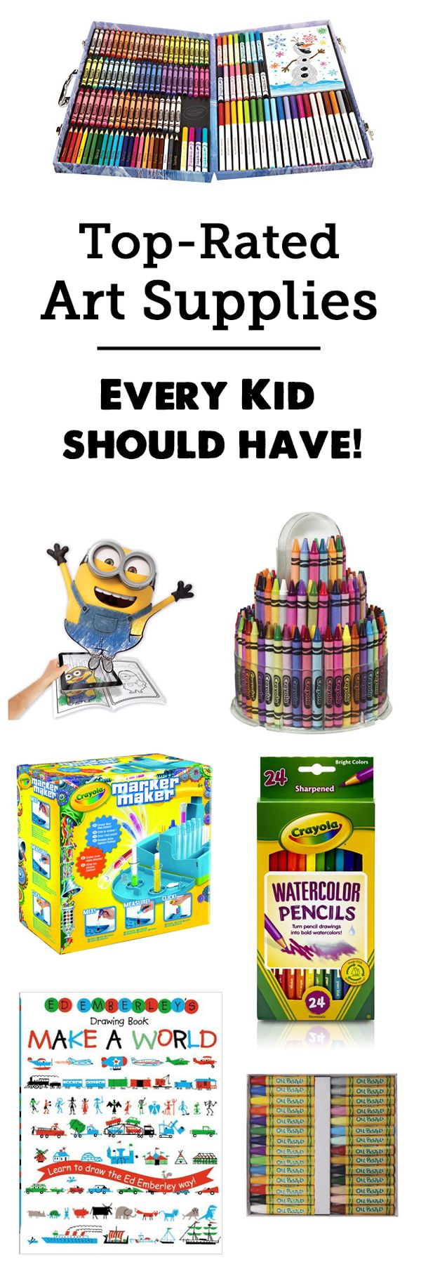 Gift guide: Best Art Supplies for Kids for open-ended creativity - all great to have on hand for a rainy day! Really appreciated the description of each toy and age recommendations!