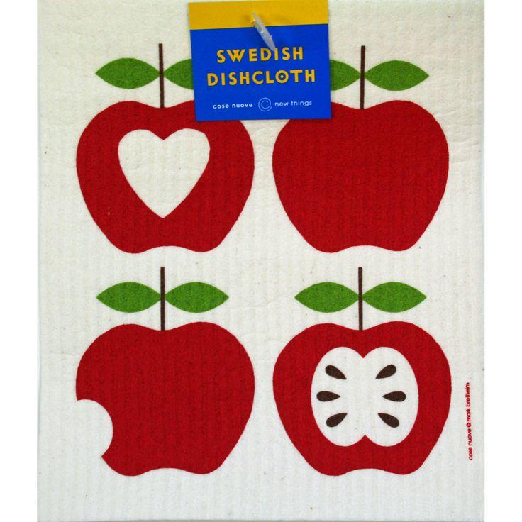 Swedish Dishcloth - Four Apples https://www.scandinavianshoppe.com/store/p/1771-Swedish-Dishcloth-Four-Apples.html