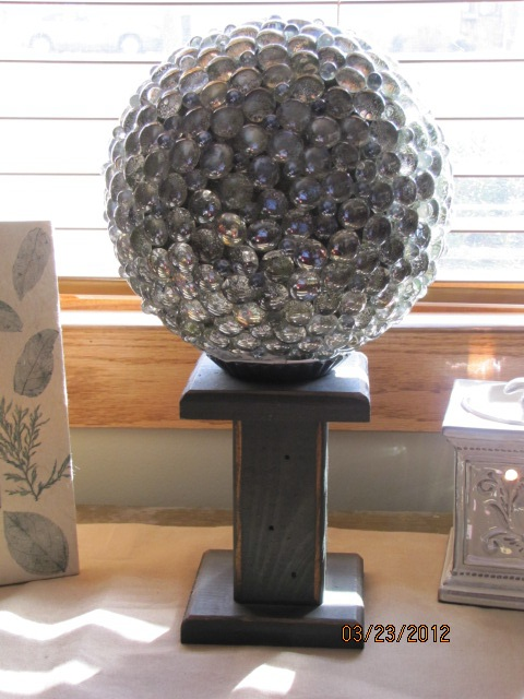25 best repurposed bowling balls images on pinterest for Spray paint rocks for garden
