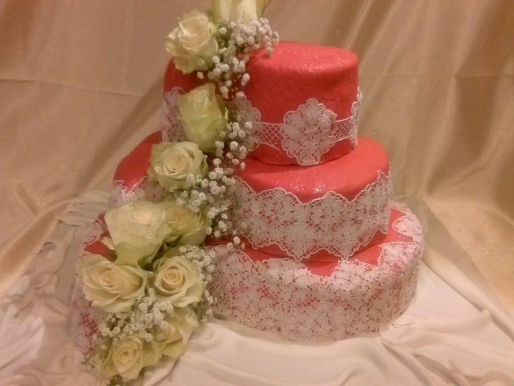 Romantische Paisley- Hochzeitstorte