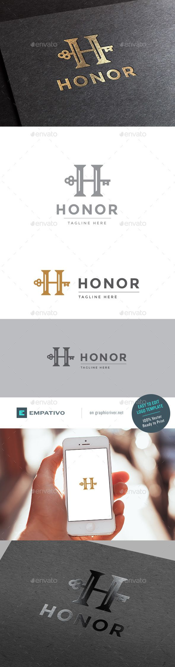 Honor Letter H Logo Template  #trade consultant #trust #unique • Available here → http://graphicriver.net/item/honor-letter-h-logo-template/15679033?s_rank=202&ref=pxcr