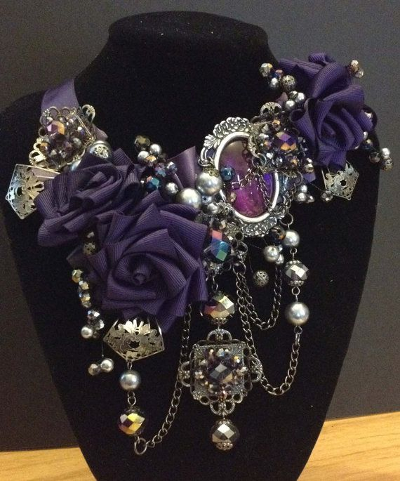 Queen Porphyra Steampunk Gothic necklace от MisSMasH2012 на Etsy