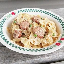 Hillshire Farm Sausage Alfredo - Allrecipes.com This is a definite keeper! We loved this.  #MyAllrecipes #AllrecipesAllstars #AllrecipesIMadeit
