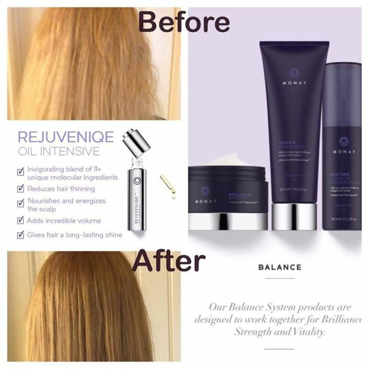 Before and After using Monat hair care line... www ...