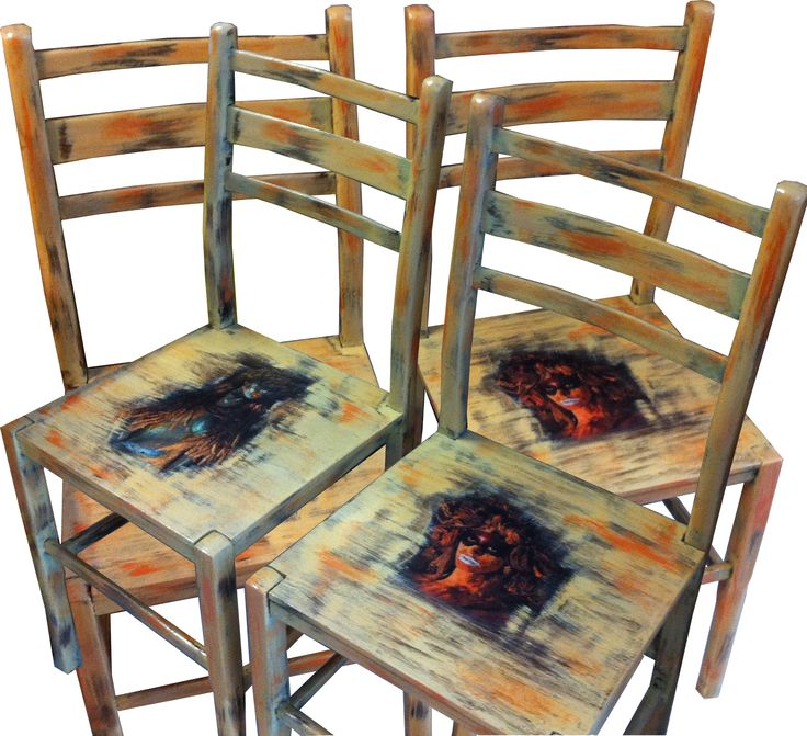 handmade painted chairs from via ad design/www.via-ad-design.com
