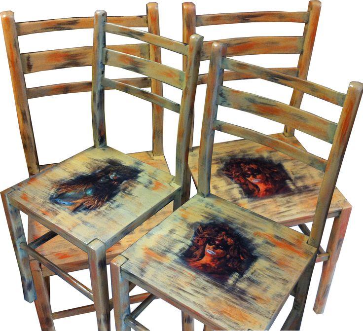 handmade painted chairs from via ad design/www.via-ad-design.com