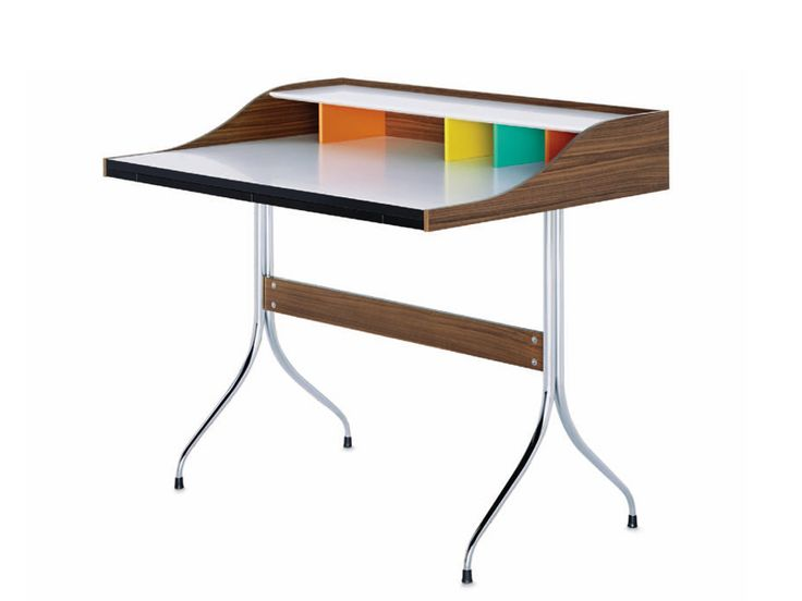 Laminate secretary desk HOME DESK by Vitra design George Nelson