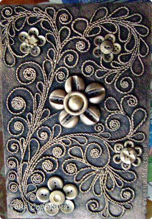 Декор предметов Аппликация из скрученных жгутиков Пейп-арт продолжение Мини МК по скручиванию жгутов Салфетки фото 3