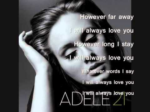 Love this version.     Adele - Lovesong