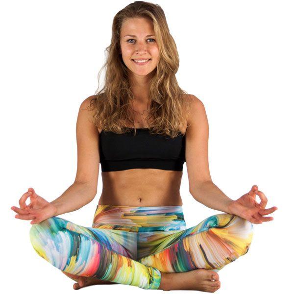 Yoga Leggings Damen Rainbow Galaxy günstig kaufen