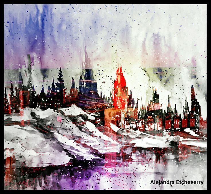 Título: Pinares - Arte Digital - San Luis, Argentina - Autora: Alejandra Etcheverry
