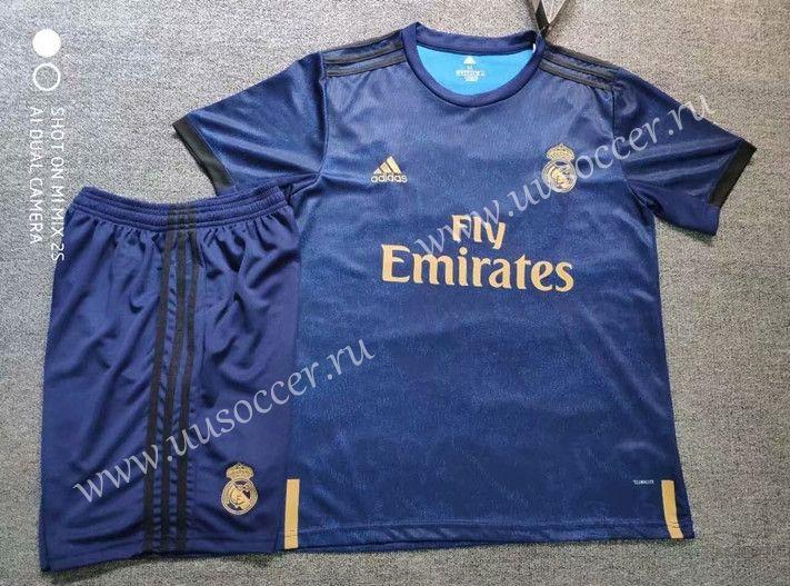 free shipping 08556 9e3d2 2019-2020 Real Madrid Away Dark Blue Soccer Uniform | 2019 ...