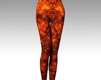 Check out Molten Lava, Lava Leggings, Orange Leggings, Orange Tights, Fiery, Activewear, Printed Leggings, Cosplay Leggings, Women's Leggings, Gift on laineydesigns