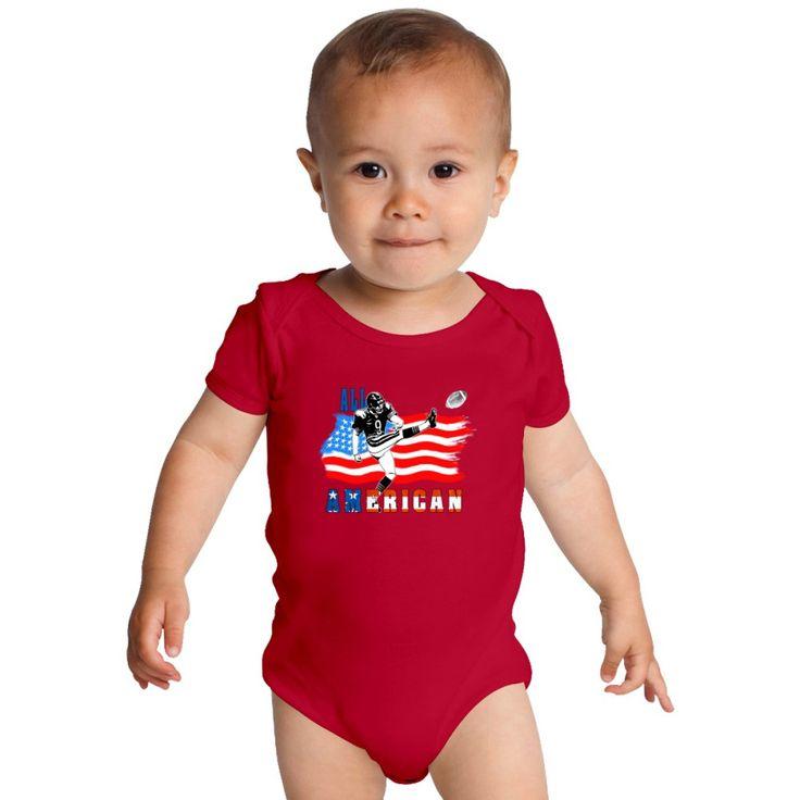 All American Football Field Goal Kicker Baby Onesies