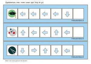 'Raar, maar waar', richtingspel voor kleuters met vijf pijlen, kleuteridee, kinderboekenweek 2015, free printable
