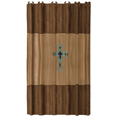Santa Cruz Turquoise Shower Curtain