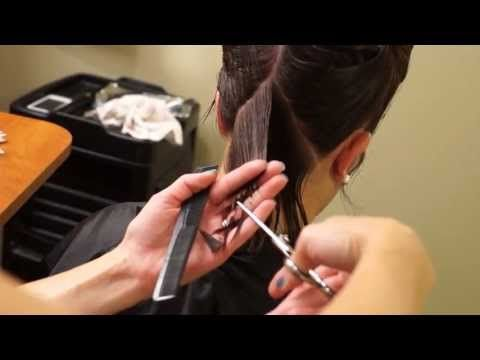 BOB HAIRCUT with graduation - How To Cut Graduated Bob Haircut Step By Step - Classic Graduation - YouTube