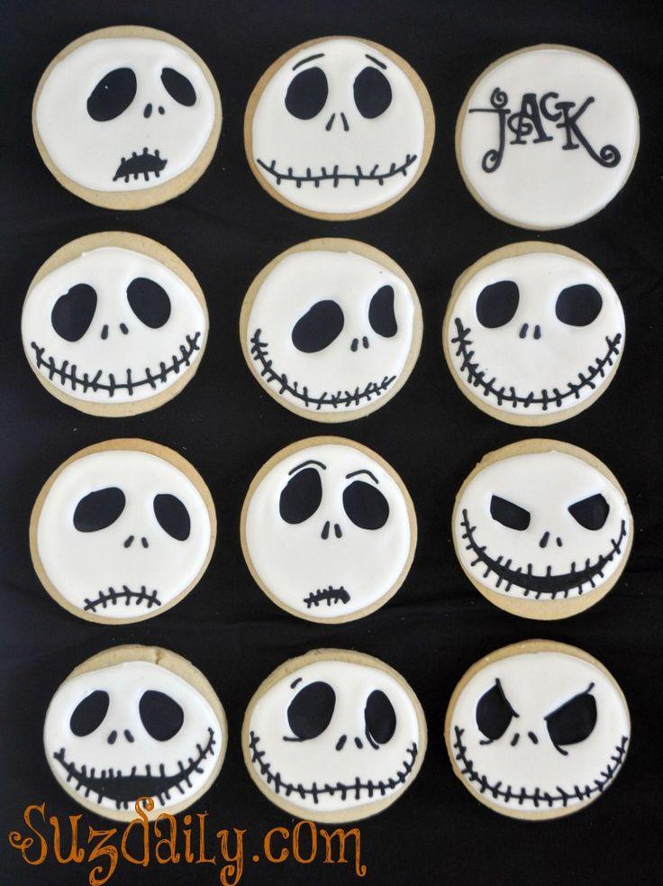 Jack Skellington, Nightmare before Christmas Cookies plus tutorial. www.facebook.com/sweetsbysuz