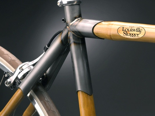 Whenever I see a bamboo bicycle, I can't help but think Louisville Slugger has an opportunity to extend the brand in an authentic, relevant way.  Note: not a real product, logo is my Photoshop creation.