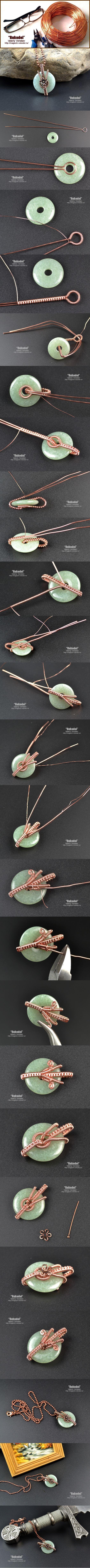 Украшения из натуральных камней.   Рукодел. Wire Wrap Pendant