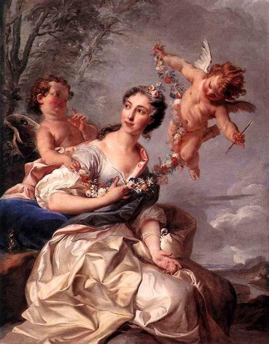 Coypel, Noël (b,1628)- Madame de Bourbon Conti, 1731