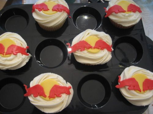 Red Bull Cupcakes With Cake Mix