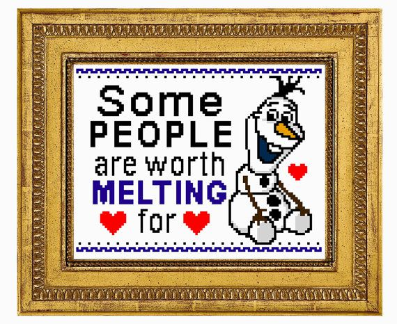 FROZEN Some people are worth Melting for 6 x 8 inch ...