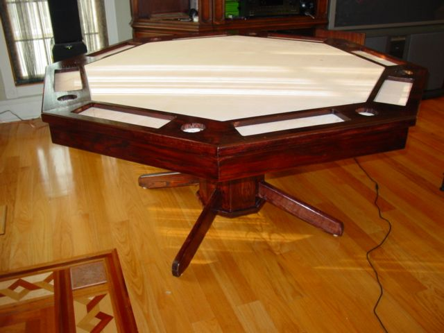 Great Part How To Build An Octagon Poker Table U2013 Stain, Poly, Hardware And Cloth