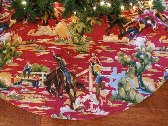 Western Christmas Tree Skirt by KaysGeneralStore
