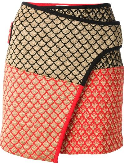 Kenzo wrap skirt - nice idea for sweater scraps