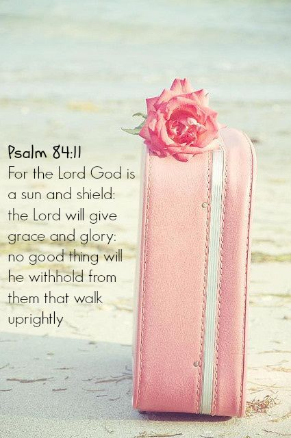 For the Lord God is a sun & shield: The Lord will give grace and glory: no good thing will He withhold from them that walk uprightly. Psalm 84:11