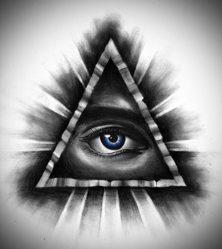 Картинка дают сигарету пирамида глаз арт