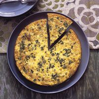 Southwestern Rice and Corn Frittata: Perfect for Sunday brunch, this spicy Southwestern egg dish will please both kids and adults. For flavor that pops, try a garnish of fresh-made salsa and a dollop of sour cream.