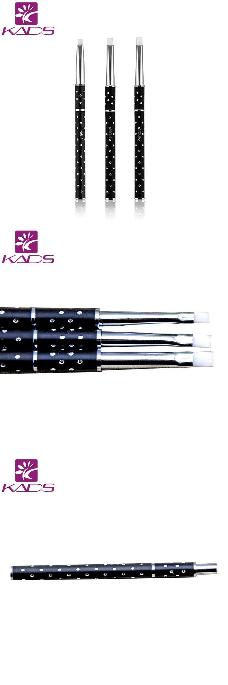 [Visit to Buy] KADS 3pcs/set SIZE 2#/4#/6# Acrylic Nail Art Builder hair Brush Drawing Pen Nail Brush Kit Painting Tools Nail Art uv gel brush #Advertisement
