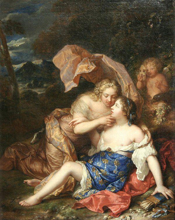 23: NETSCHER (DUTCH) Jupiter & Callisto Oil Painting : Lot 23