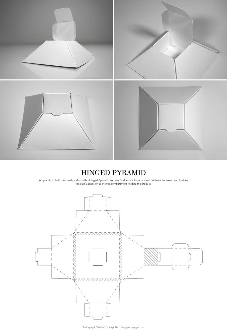 Hinged Pyramid – FREE resource for structural packaging design dielines