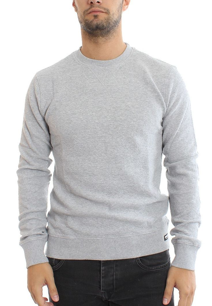 Superdry Pullover Men TAILORMAN CREW Grey Marl Rib Jetzt