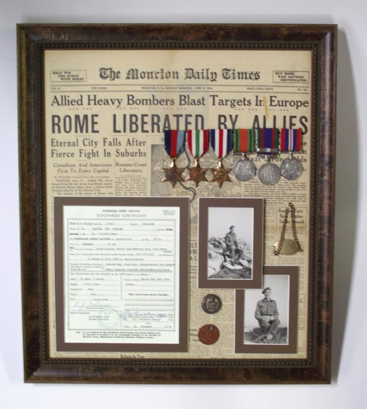 We wanted to share with you a fantastic idea that our customer had, using old newspaper print as a backdrop for her memorabilia in a shadow box. Finished with a frame from the Verona collection, we were pleased with the end result!